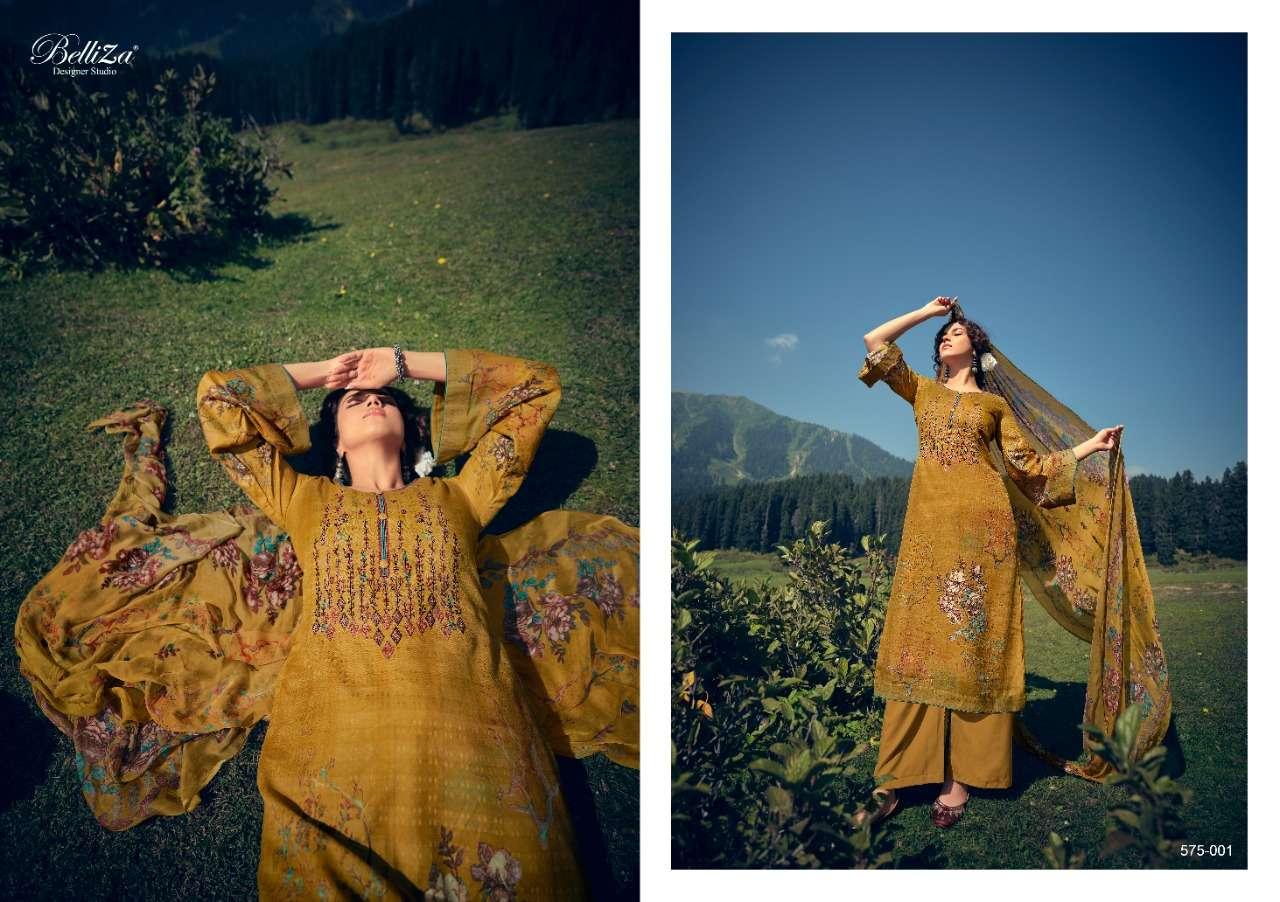 BELLIZA KIMAYA DESIGNER PASHMINA WITH HEAVY EMBROIDERY WORK WINTER WEAR SUITS WHOLESALE