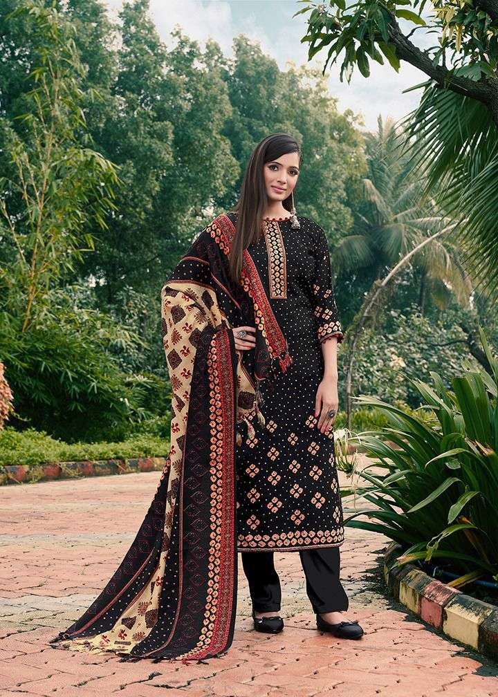 KAY VEE SORIN DESIGNER PASHMINA DIGITAL PRINT WITH EMBROIDERY WORK SUITS WHOLESALE